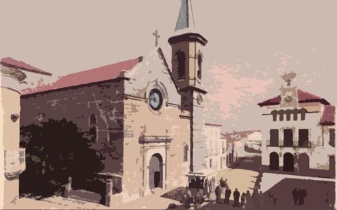 Marmolejo - Imagen del centro con el tranvía