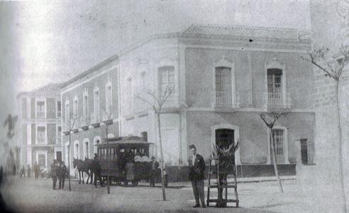 Tranvia tipo Falcon en el centro - 1925