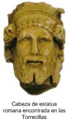 Cabeza de Estatua Romana encontrada en Las Torrecillas