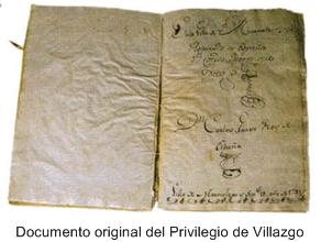Documento original del Privilegio de Villazgo de Marmolejo