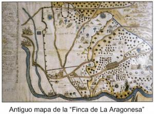 Antiguo mapa de la Finca la Aragonesa