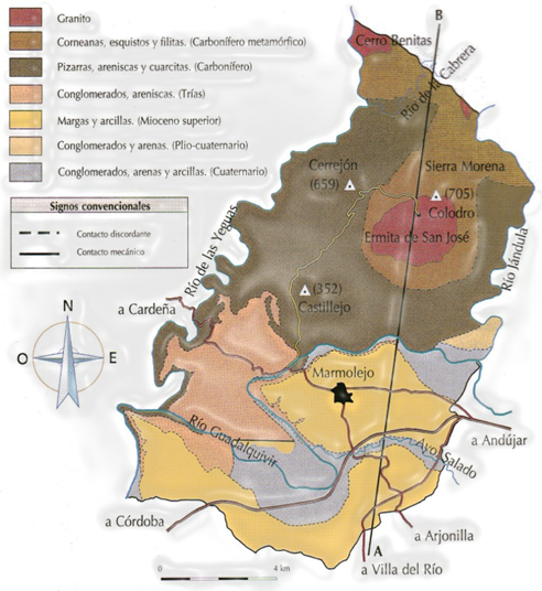 Marmolejo - Mapa Geológico