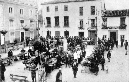 Busto de Orti Lara en la Plaza del Amparo - Marmolejo