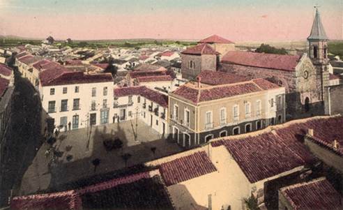 Vista de la Plaza del Amparo - Postal Coloreada