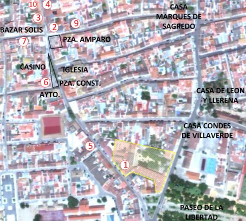 Mapa hoteles centro Marmolejo - tamaño ok