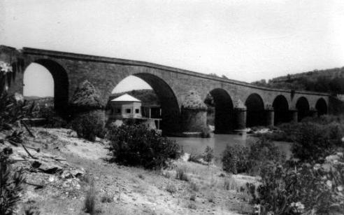 Vista del Puente y de la Cúpula de los Manantiales de Balneario de Marmolejo