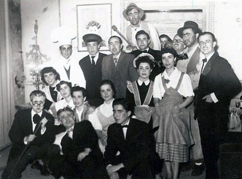 Grupo de Teatro de Manuel Muñoz en 1954